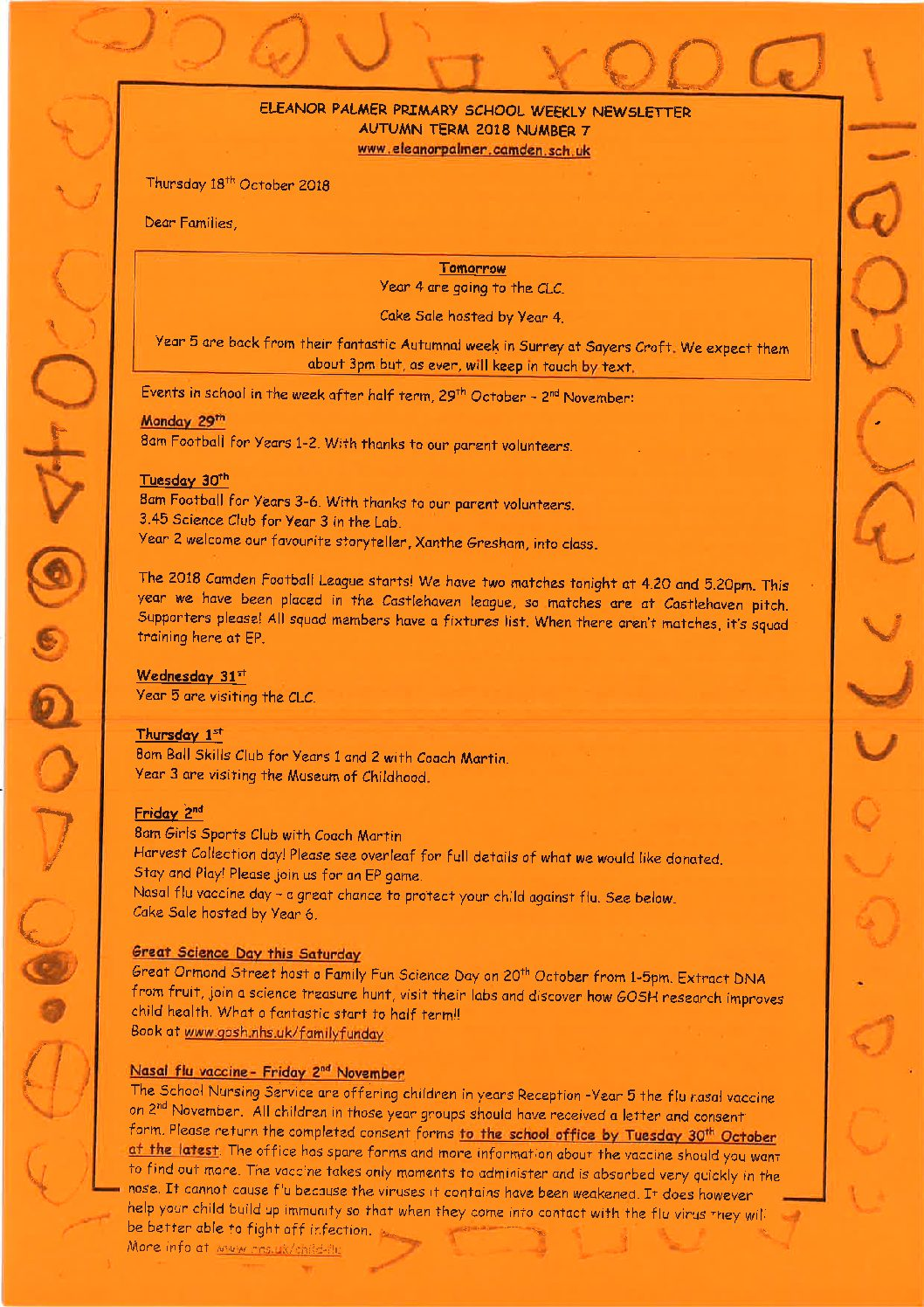 Newsletters - Eleanor Palmer Primary School