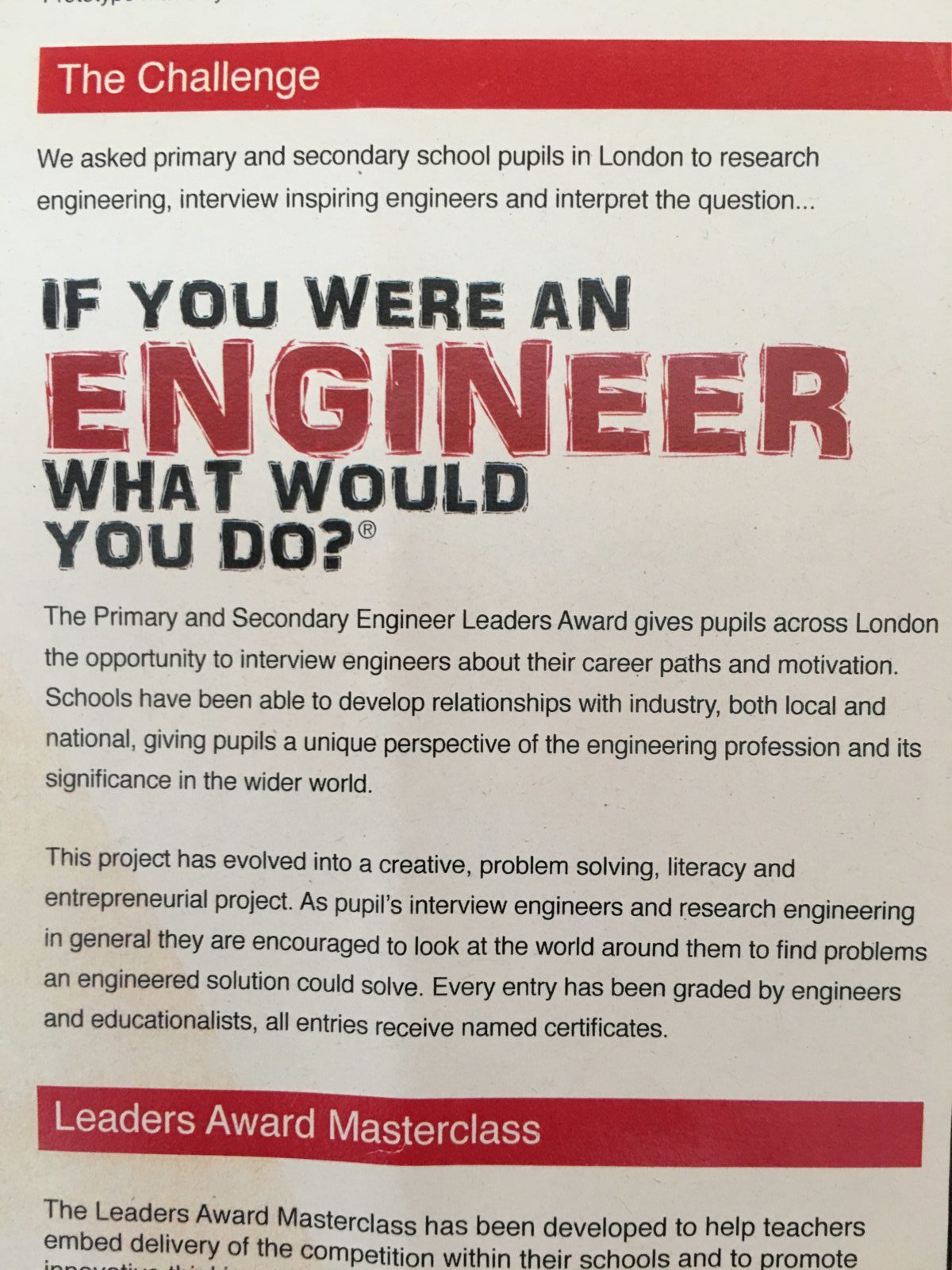 Exceptional Engineers! - Eleanor Palmer Primary School